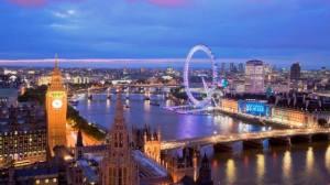 UK England London Big Ben Ferris Wheel